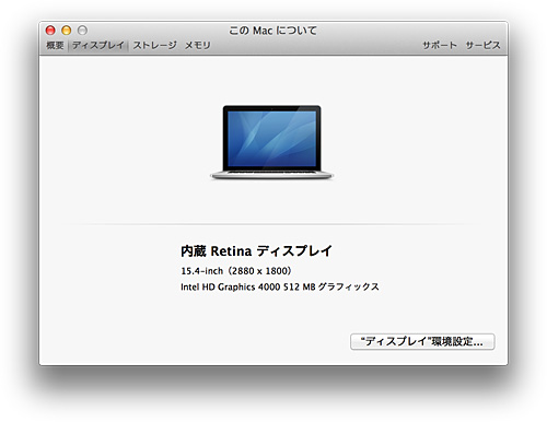MacBook-Pro-Retina'このMacについて'